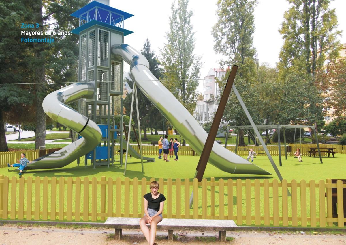 Licitan por euros a construci n do parque infantil for Piscina campolongo