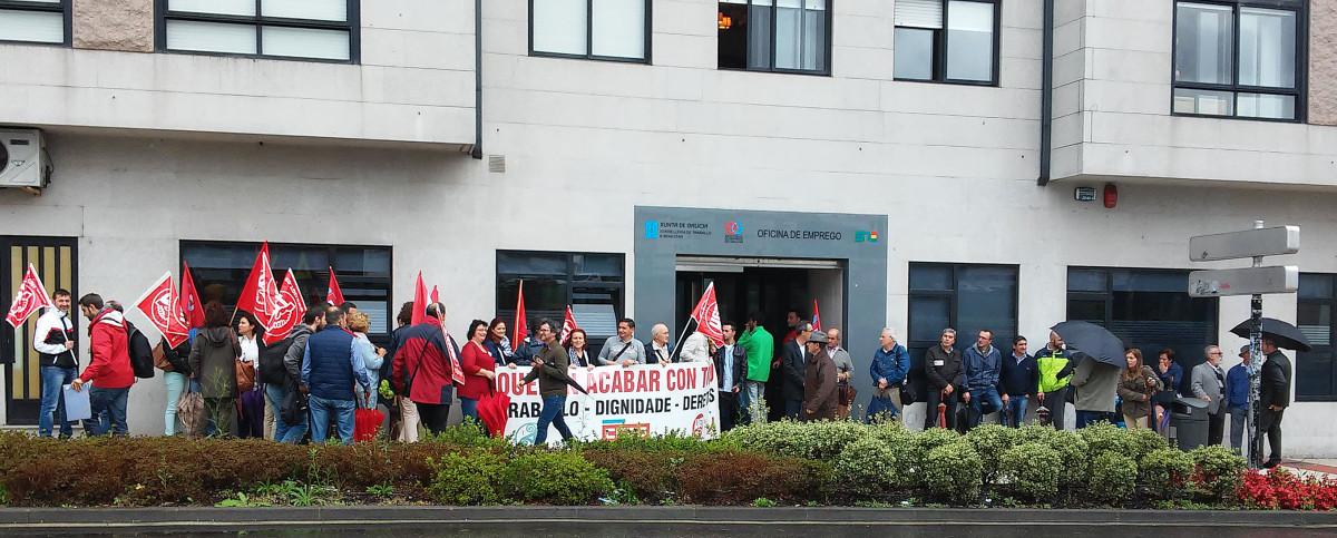 Concentraci ns sindicais contra as pol ticas de emprego e for Oficina de empleo pontevedra