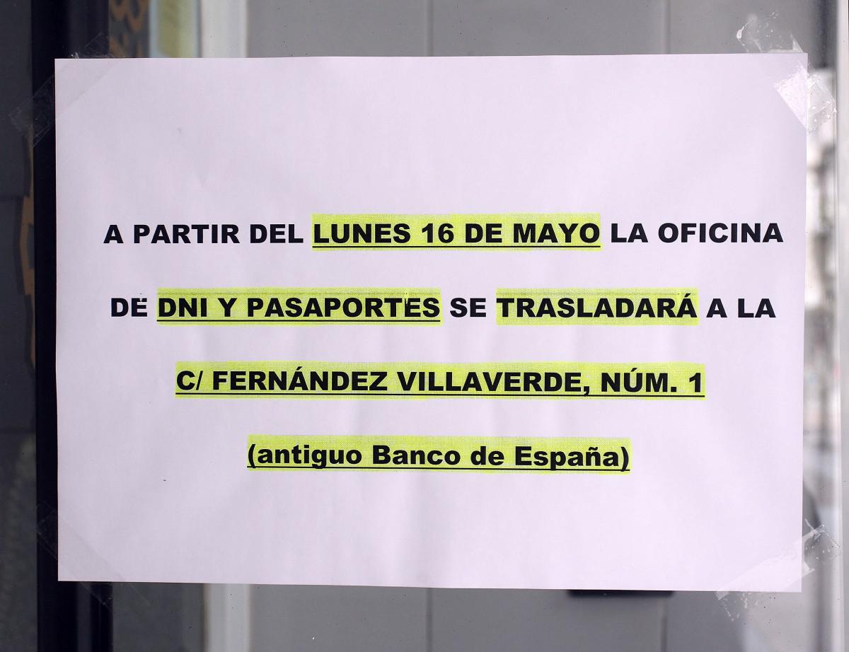 El 16 de mayo el dni y los pasaportes dejar n de for Oficinas pasaporte madrid